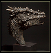 Fine Bronze Dinosaur Sculptures by Christopher Darga