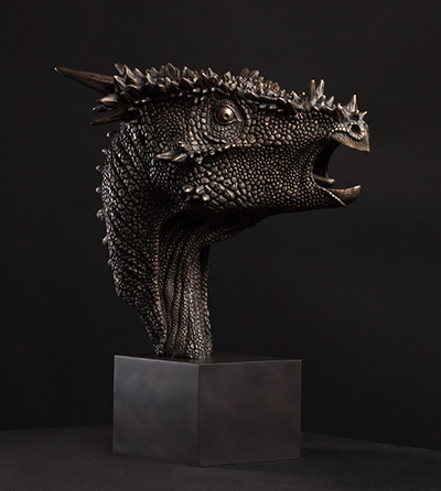 Dracorex Hogwartsia Sculpture by Christopher Darga