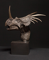 Styracosaurus 1/4 Life Size Bronze Edition of 40 and Painted Resin